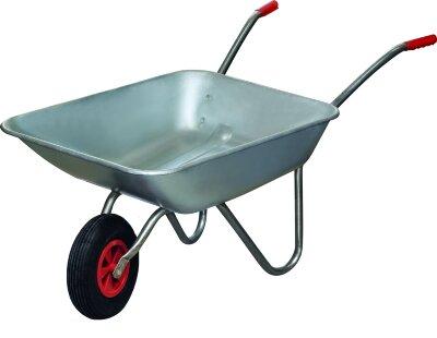 Тачка садовая WB 4701 PARK до 80 кг, оцинкованное корыто 65 литров