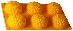 Форма силиконовая для выпечки 6 кексов«Золотой шар» Regent 93-SI-FO-28 30х17.5х3.5 см