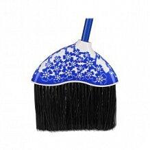 Веник с черенком жесткий для улицы и дома М3430 Камелия синий