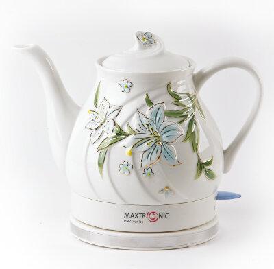 Чайник электрический керамика 1.5 л MAXTRONIC MAX-NK-061 1.5 кВт с ручной росписью