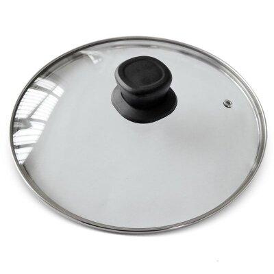 Крышка Mallony VETRO диаметр 24 см, стекло, с металлическим ободком, для сковороды