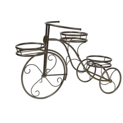 Подставка для цветов в горшках Велосипед 3 металлическая 70x49x30 см