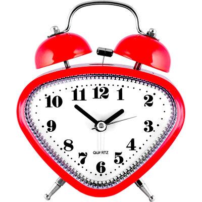 """Часы будильник настольные на батарейках MAXTRONIC MAX-2829 """"Любовь"""" со звонком, красный"""