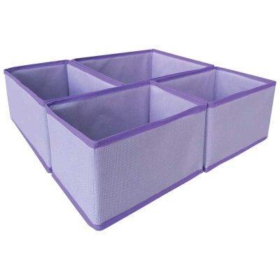 Набор больших коробок для хранения Рыжий КОТ 4шт, спанбонд