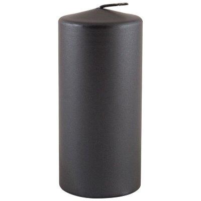 Свеча столбик парафиновая 56x120 мм лакированная серый перламутр