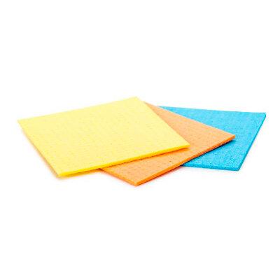 Салфетка целлюлозная универсальная 15х18 см 3 шт Рыжий Кот, красная, оранжевая, желтая