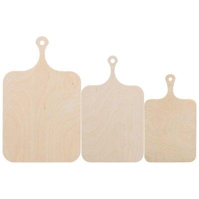 Разделочные доски из фанеры Tagliere Mallony 3 штуки 37х21 см, 30х16 см, 25х15 см