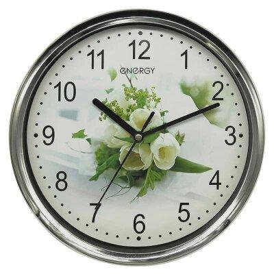 Часы настенные кварцевые ENERGY ЕС-128 круглые с плавным ходом