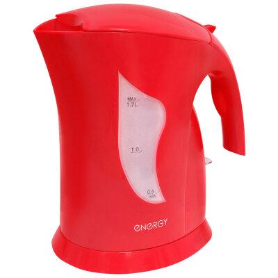 ENERGY E-208 Чайник пластиковый 1.7 л со съемным фильтром красный
