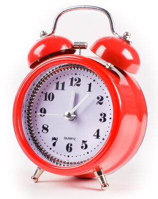 Часы будильник с подсветкой циферблата MAXTRONIC MAX-2832  плавный ход секундной стрелки и звонок-колокол, Rad and Black