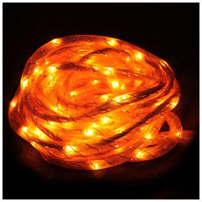 """Гирлянда мигающая одноцветная """"Шнурок"""" Rope-100-5-Y Желтая, 100 рисовых ламп, 5 метров, 8 режимов"""