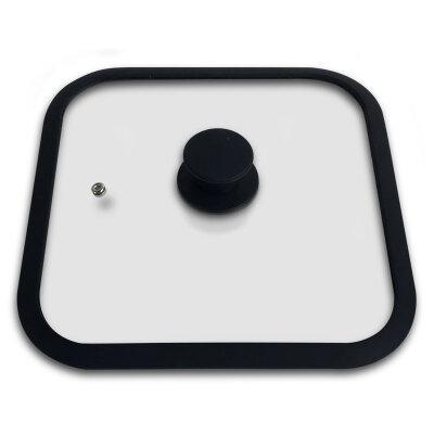 Квадратная крышка 26х26 см Mallony QUADRATO для сковороды гриль