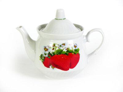 Чайник заварочный фарфор 0.5 л Клубника 1С0114/1