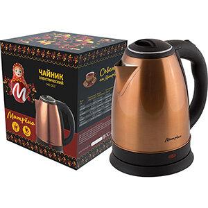 Чайник МАТРЁНА MA-002 электрический 1.8 л стальной цвет медный