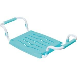 Сидушка в ванну для пожилых раздвижная до 100 кг НИКА СВ5 , Голубая