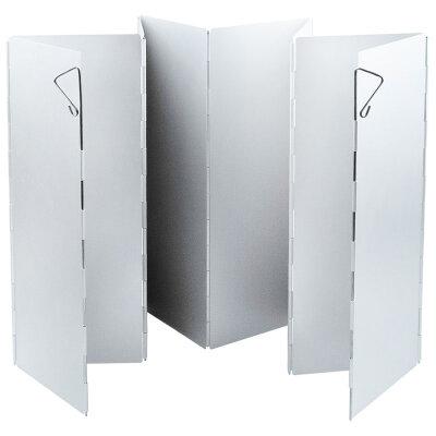 Экран складной от ветра для мини плитки походной ECOS WS2-6002 из 8 алюминиевых панелей