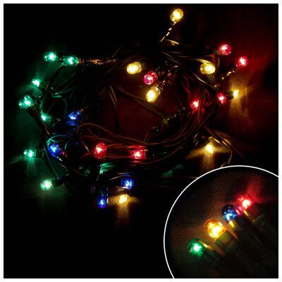 Гирлянда многоцветная постоянного свечения PR/R-30-3-MC 3 метра 30 рисовых ламп
