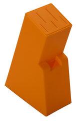 Подставка для ножей Regent 93-KN-WB-12 21х14х7 см, пластик, оранжевая