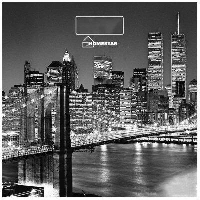 Весы напольные электронные домашние до 180 кг Бруклинский Мост HS-6001E со стеклянной платформой