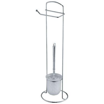 Стойка напольная Рыжий КОТ ELINE-TBH-1 для туалета с держателем для туалетной бумаги и ершиком 16х16х59 см