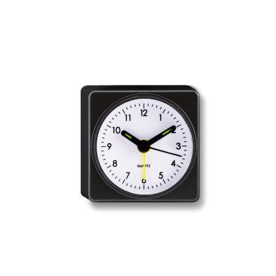 """Часы будильник настольные на батарейках MAXTRONIC MAX-3117-1 """"Старт-1"""" квадратный, 7.2x4,6x7 см, Черный"""
