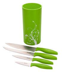Набор Regent 93-KN-FI-S5 из 4 кухонных ножей с подставкой 22х12 см
