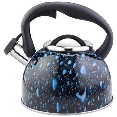 Чайник черный для плиты 2.5 л Mallony Lacrima