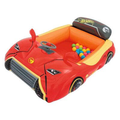Bestway 93404 Машина надувная детская с 25 шариками и рулем 135х99х43 см
