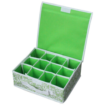 Коробка для хранения нижнего белья (12 ячеек) с откидной крышкой