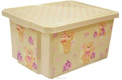 Ящик д хранения 17л Х-ВОХ Bears 1023  40,5х30,5х21