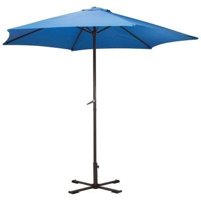 Зонт от солнца дачный GU-03-BL с крестообразным основанием Синий 240 см 6 спиц