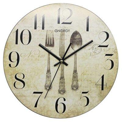 Часы настенные кварцевые ENERGY ЕС-131 круглые 31.6 см с плавным ходом