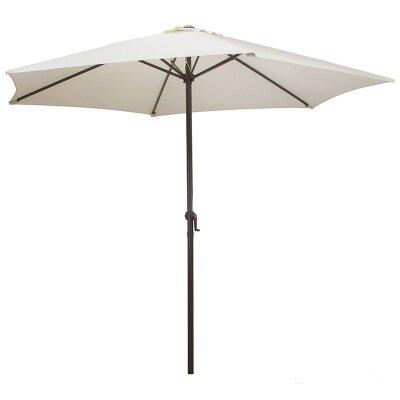 Зонт садовый большой от солнца GU-01 высота 240 см диаметр 270 см Бежевый без крестообразного основания