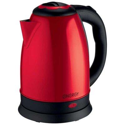 Чайник электрический дисковый 1.8 л стальной ENERGY E-292 красный 1500 Вт