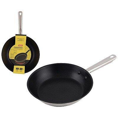 Сковорода GOURMET Mallony из нержавеющей стали с антипригарным покрытием, диаметр 26 см
