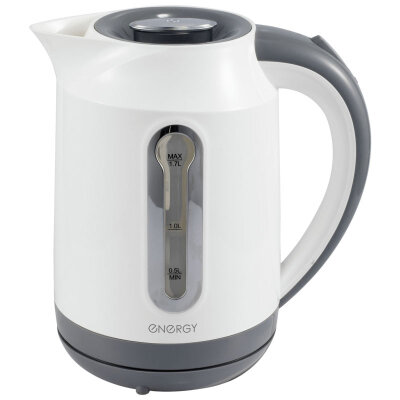 Чайник ENERGY E-210 электрический 1.7 л с внутренней подсветкой и фильтром,  белый