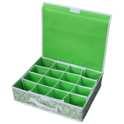 Коробка для хранения нижнего белья 16 ячеек NWH-2 Рыжий КОТ с откидной крышкой
