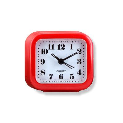 Часы будильник настольные на батарейке MAXTRONIC MAX-3011-1  прикроватный компактный, 8.1x3.8x7.5 см, Красный