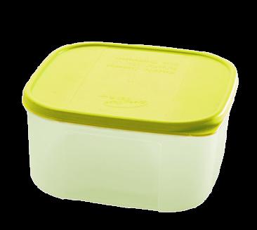 Контейнер для хранения продуктов 0.42 л пластиковый ПЦ2355  квадратный с крышкой