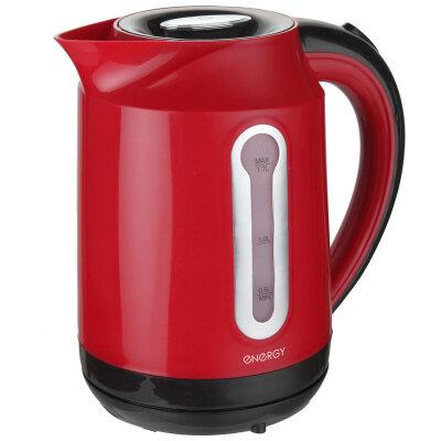 Чайник электрический пластиковый 1.7 л ENERGY E-210 фильтр и подсветка, диск, красный