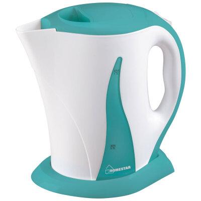 Чайник электрический в пластиковом корпусе 1.7 л HomeStar HS-1003 2200 Вт бело-бирюзовый