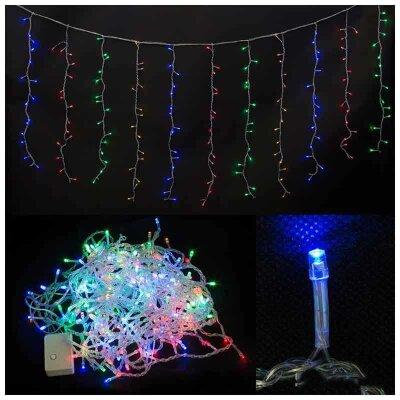Гирлянда светодиодная многоцветная ЗАНАВЕС CURTAIN 240 LED 2.2х1.5 метра