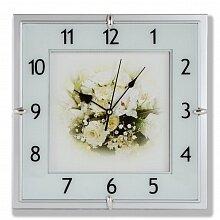 """Часы настенные MAX-8868C """"Робкость"""" квадрат 28х28 см"""