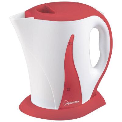 Чайник электрический с пластиковым корпусом 1.7 л HomeStar HS-1003-WC 2200 Вт бело-коралловый