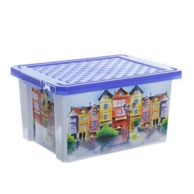 Ящик для хранения КАРНАВАЛ 17л BQ2584 40х30х20 см пластиковый с крышкой