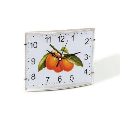 """Часы настенные прямоугольные 28х18 см MAXTRONIC  MAX-9653A """"Абрикос"""""""