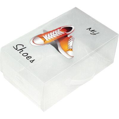 Коробка для обуви пластиковая, прозрачная Рыжий КОТ SB6 , 33х20х13 см
