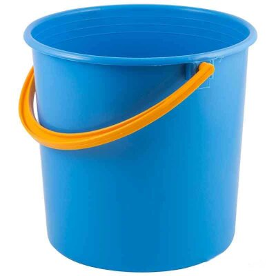 Ведро пластиковое круглое без крышки 10 л цвет в ассортименте Рыжий Кот