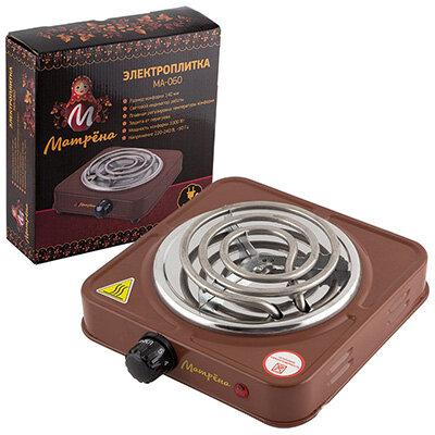 Матрёна МА-060 Настольльная электрическая плита 1000 Вт коричневый