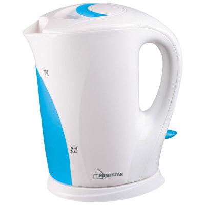 Чайник электрический пластиковый 1.7 л HomeStar HS-1004- WBL 2200 Вт бело-голубой